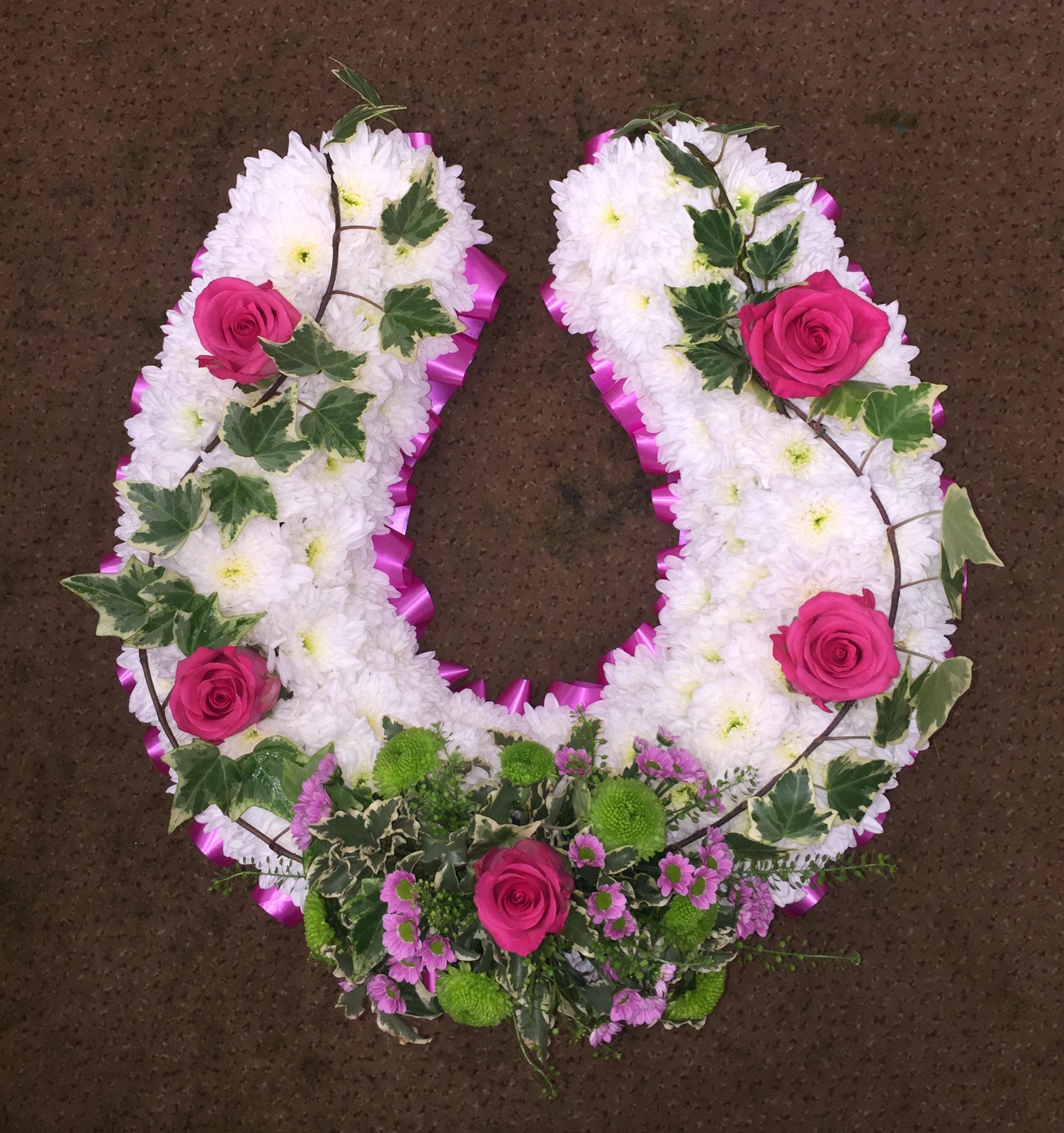 Horse Shoe Tribute Blossoms Florist Portsmouth